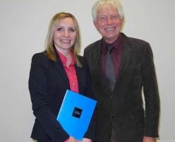 Besonders gut: Natali Lüch und Professor Richard Korff, der ihre Masterarbeit betreut hatte.