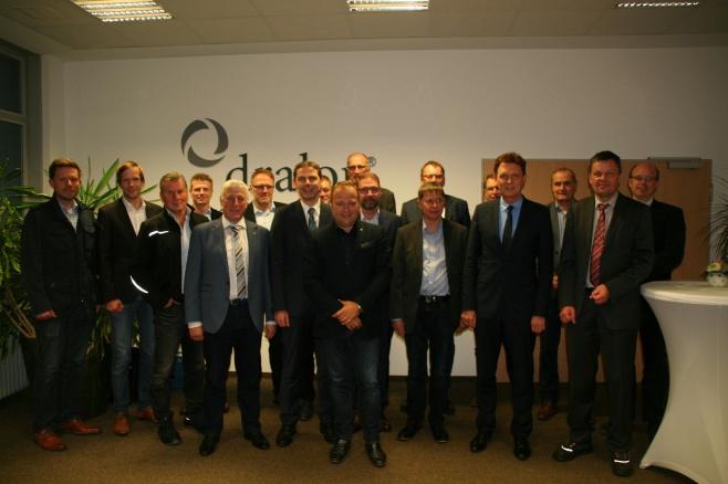Treffen der Geschäftsführer des IndustrieParks Lingen bei Dralon.