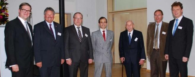 Gäste aus Politik, Verwaltung und Wirtschaft gratulierten GDF Suez zum 125-jährigen Bestehen bei einem Empfang im IT-Zentrum in Lingen.