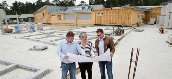 Eine siebenstellige Summe nimmt die Rosen-Gruppe in die Hand, um am Firmenstandort in Lingen neben dem Kindergarten Rokids (im Hintergrund) eine ebenfalls bilinguale Grundschule errichten zu lassen. Foto: Rosen